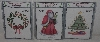 "MBA #3636-355   ""1996 Set Of 3 American Traditional 3 Part Over Lay Christmas Stencils"""