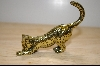 1986 Brass Etched Franklin Mint Collectors Cat