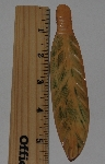 "MBA #3737-A  ""Large Hand Carved Bone Feather"""