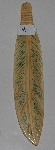 "MBA #3737-B  ""Large Hand Carved Bone Feather"""