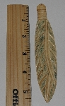 "MBA #3737-F  ""Large Hand Carved Bone Feather"""