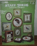 "MBA #3939-125   ""1982 Leisure Arts ""State Birds"" Charted For Cross Stitch"""