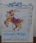 "MBA #3939-0073   ""1987 Carousel Horses Watercolors In Counted Cross Stitch By Kay Jongsma"""