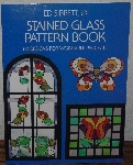 "MBA #3939-236   ""1976 Ed Sibbett Jr. Stained Glass Pattern Book"" Paper Back"