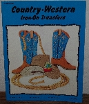 "MBA #3939-188  ""1982 Country-Western Iron On Transfers By Craftways"" Paper Back"