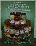 "MBA #3939-184   ""1986 Decorative Herbs & Spices Stickers & Seals By Ed Sibbett Jr."" Paper Back"