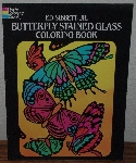 "MBA #4040-179  ""1985 Butterfly Stained Glass Coloring Book"" By Ed Sibbett Jr."
