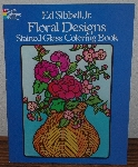"MBA #4040-183   1983 Floral Designs Stained Glass Coloring Book"" By Ed Sibbett Jr."