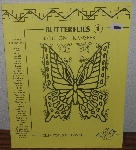 "MBA #4040-252  ""1984 Butterflies 1 Iron On Transfers By Celia Totus"" Paper Back"