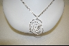 "Charles Winston Clear Cz Large Heart Pendant With 18"" 3 Strand Chain"