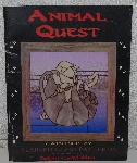 "MBA #4141-0013   ""1999 Animal Quest ""Cats In Play"" Stained Glass Pattern Book"" Designer Laurel Nelson"