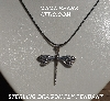 "MBA #5600-313  ""Sterling Dragon Fly Pendant With 18"" Back Cord"""
