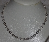 "MBA #5602-218  ""18"" Flat Oval Link Sterling Necklace Made In Italy"""