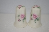 +MBA #11-019  Pink Rose Salt & Pepper Shakers