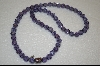 **Nancy Nelson Purple Crystal Necklace W/Jeweled Clasp