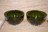 "MBA #13-064      ""Set Of 2 Bottle Green Berry Bowls"