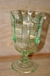 "MBA #13-072A     ""Set Of 2 Antique Green Glass Goblets"