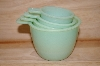 "MBA #13-082   ""Milk Glass Green Measuring Cups"