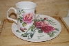 +MBA #13-168  English Rose Sandwich Plate & Cup