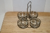 MBA #-09626   Rustic Wire Tea Light Holder