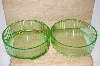 Green Depression Glass Food Storage Dishes