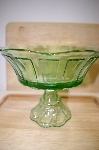 "MBA #14-292A       ""Large Antique Green Compote"""