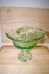 "**MBA #14-296   ""Medium Antique Green Compote"