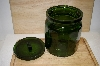 "MBA #14-289    ""Large Bottle Green Glass Canister"