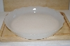 "MBA #14-281   ""Vintage Inspired Milk Glass Scalloped Serving Plate"