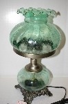 Hand Painted Crackle Finish Green Victorian Desk Lamp