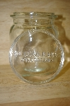 "MBA #14-112A     "" 2004  Biller & Jones Clear Glass Canister With Glass Lid"