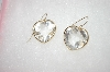 MBA #16-575 Fancy Cut  Clear Quartz Heart Earrings