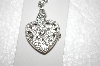 "**MBA #16-688  Signature Club Heart Shaped Crystal Locket Watch With 28"" Chain"