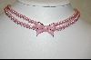 **MBA #MJ-P  Majestic Pink Simulated Two Strand Bow Necklace