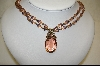 **Sweet Romance Pink Crystal And Glass Bead Necklace