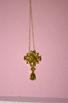 Beautiful Citrine & Peridot 14K Pendant With Chain