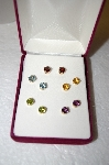 "MBA #17-227   ""Set Of 5 14K Yellow Gold Gemstone Studs"
