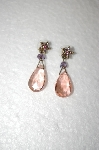**MBA #17-058  Sweet Romance Pink Glass Earrings