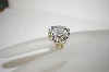 Charles Winston Large Clear CZ Flower Ring