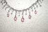 Charles Winston Pink & Clear CZ Necklace