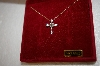 14K Yellow Gold 1/4ct Diamond Cross Pendant