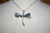 **MBA #18-079  Sterling Drangonfly Pendant With Chain