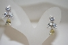 """SOLD""  Charles Winston Fancy  Clear & Yellow CZ Earrings"