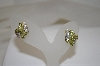 14K Yellow Gold Peridot & Diamond Earrings