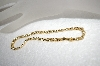 "10"" 14k Yellow Gold Bold Byzantine Anckle Bracelet"