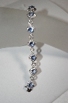 Charles Winston Simulated Tanzanite & Clear CZ Bracelet