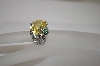 "MBA #18-319  ""Charles Winston Yellow CZ Turtle Accent Ring"
