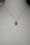 10K Two-Tone Diamond Heart Pendant With Chain