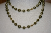 **MBA #19-249  Majestic 2 Row Simulated Green Pearl Necklace