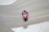 **MBA $19-0063  Pink, Purple & Clear CZ Ring